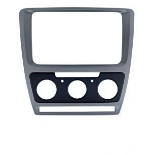 Рамки Skoda Octavia (A5) 04-13  для Intro CHR-8676 Silver  (Мех. Печь)