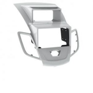 Рамка Ford Fiesta 09+ 2/1din silver (со штатным дисплеем)