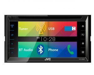 2DIN DVD/CD/USB  мультимедиа ресивер 6,8″, 3RCA (4 В) с поддержкой Bluetooth JVC KW-V320BTQ