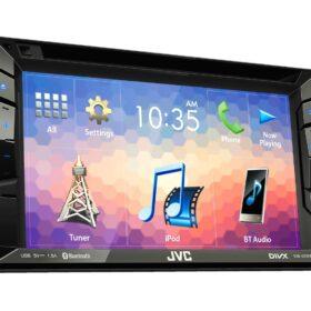 "2DIN DVD/CD/USB мультимедиа ресивер 6,2"", 3RCA JVC KW-V230BT"