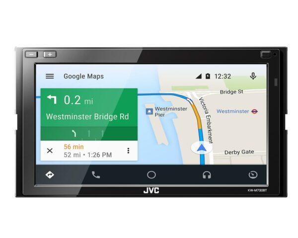 2DIN USB мультимедиа ресивер, Apple Carplay, Android Auto, 3RCA JVC KW-M730BT