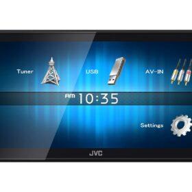 """2DIN USB мультимедиа ресивер 6,8"""", 2RCA, укороченная база JVC KW-M14"""