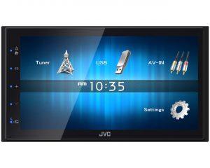 2DIN USB мультимедиа ресивер 6,8″, 2RCA, укороченная база JVC KW-M14