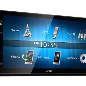 2DIN USB мультимедиа ресивер, с укороченной базой и Bluetooth JVC KW-M24BT